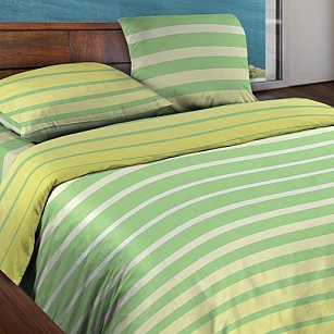 КПБ БИО Комфорт 'WENGE Motion' Stripe Lime 15184-6