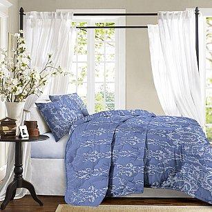 Покрывало стеганое 'Романтика' 210*240  Бельведер голубой