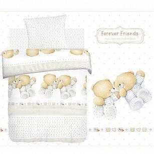 КПБ детский поплин 'Forever Friends' рис. 8823+8824 вид 1 Близнецы
