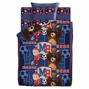КПБ 1.5 хлопок Маша и Медведь (70х70) рис. 9007-1/9008-1 Команда