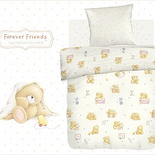 КПБ детский поплин 'Forever Friends' рис. 8825+8826 вид 1 Маленькие мишки