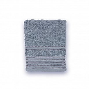 Полотенце махровое 'Романтика', Патрисия, серый