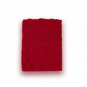 Полотенце махровое 'Романтика', Рахат-лукум, бордовый