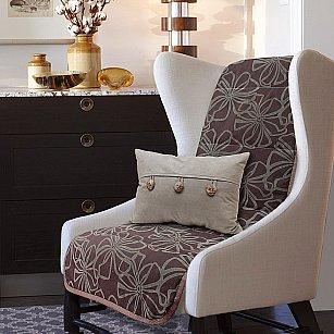 "Накидка на кресло ""Доротея"" - 4, темно-коричневый"