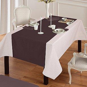 """Дорожка на стол """"Анита""""-4, темно-коричневый"""