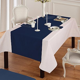 "Дорожка на стол ""Анита""-7, синий"