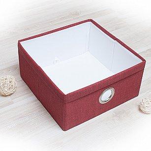 """Декоративная корзинка """"Фальсо-1"""", средняя, бордовый"""