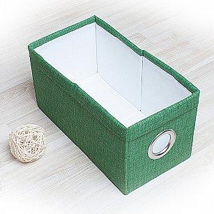 """Декоративная корзинка """"Фальсо-3"""", малая, зеленый"""
