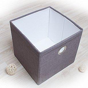 """Декоративная корзинка """"Фальсо-5"""", большая, серый"""