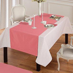 """Дорожка на стол """"Анита""""-2, коралловый"""