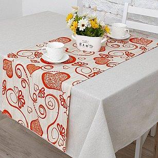 """Дорожка на стол """"Амур""""-2п, оранжевый"""