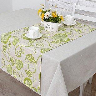 """Дорожка на стол """"Амур""""-3п, салатовый"""