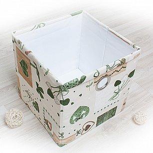 """Декоративная корзинка """"Яна"""", большая, зеленый"""