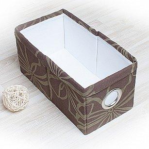 "Декоративная корзинка ""Доротея-4"", малая, темно-коричневый"