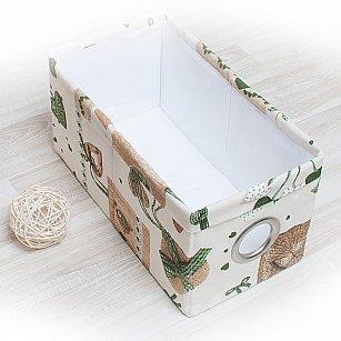 """Декоративная корзинка """"Яна"""", малая, зеленый"""