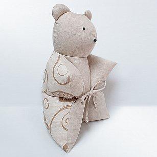 "Декоративная подушка ""Мишка"", бежевый"