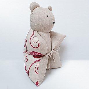 """Декоративная подушка """"Мишка"""", бордовый"""