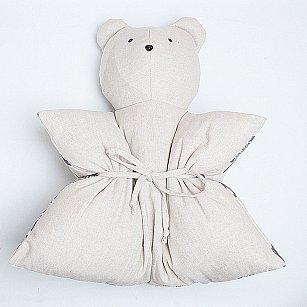 """Декоративная подушка """"Мишка"""", однотонный, серый"""