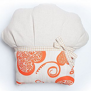 "Декоративная подушка ""Кекс-2"", оранжевый"