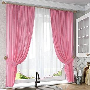"""Шторы """"Тюльпан"""", розовый"""
