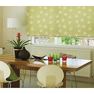 Рулонная штора ролло «Одуванчик зеленый»