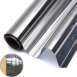 Светоотражающая статическая оконная пленка ТМ5-Т01, серебро