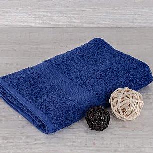 """Полотенце махровое """"Арк Байрамали"""" бордюр косичка, темно-синий"""