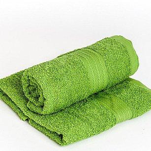 "Полотенце махровое ""Арк Байрамали"" бордюр косичка, зеленый"