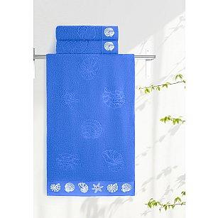 Полотенце махровое Aquarelle Ракушки, синее море