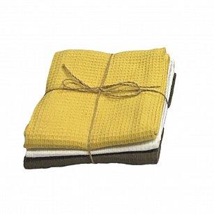 Комплект кухонных полотенец Arya Kitchen Line Norton2 (45*70 см), желтый, хаки