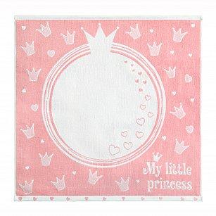 """Полотенце Облачко """"My little princess"""", нежный пион, белый, 100*100 см"""