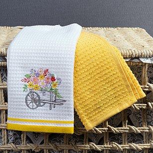 Комплект кухонных полотенец Arya Provense Цветы (40*60 см), белый, желтый