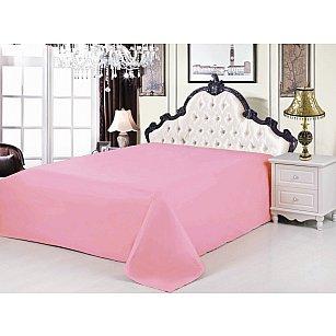 Простынь сатин розовый