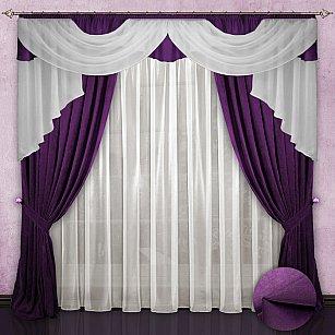 Комплект штор №033 Фиолетовый