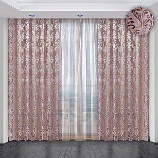 Комплект штор №036, розово-сиреневый