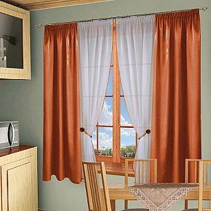 Комплект штор №054 Оранжевый