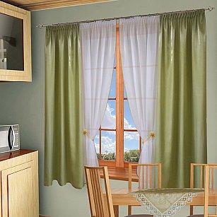 Комплект штор №054 Зеленый