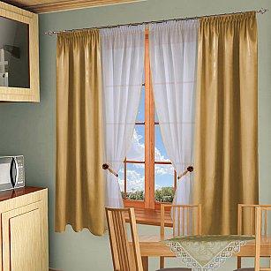 Комплект штор №054 Золотой