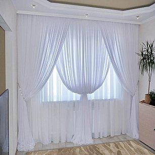 Комплект штор №092 Белый