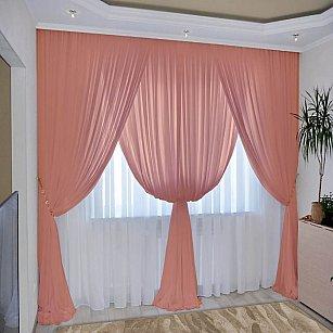 Комплект штор №092 Персик