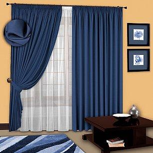 Комплект штор №107 Синий