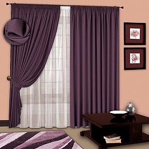 Комплект штор №107 Фиолетовый