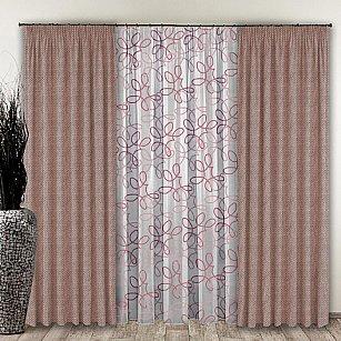 Комплект штор №110 Пыльная роза
