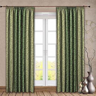Комплект штор №121 Зеленый