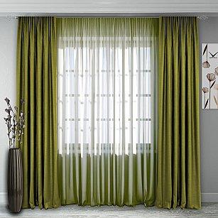 Комплект штор №140, светло-зеленый