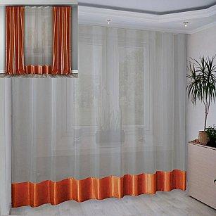 Занавеска №3-02, оранжевый, 280*270 см