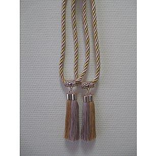 Кисти двойные С-3, золото, беж, золотой, бежевый, 14 см