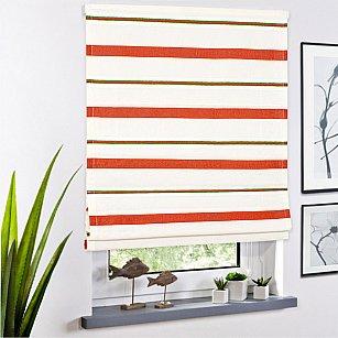 Римская штора Miami рисунок полоса,  терракот