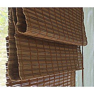 "Римская штора ""Бамбук Какао"", ширина 60 см"