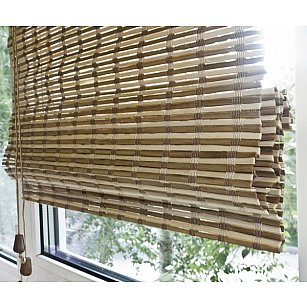 "Римская штора ""Бамбук Микс"", ширина 80 см"